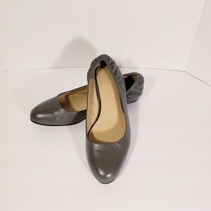 """H by Halston   """"Stephanie"""" Taupe Gray Ballet Flats"""